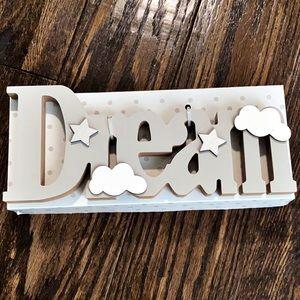 DREAM • wood decor • word art